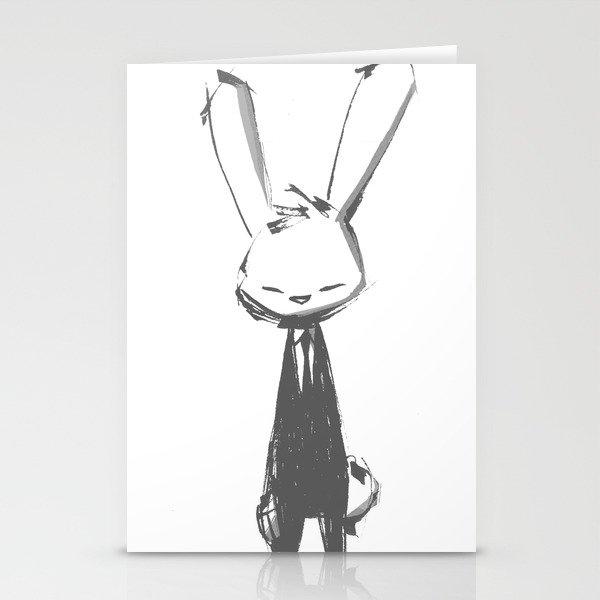 minima - beta bunny pose Stationery Cards