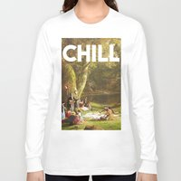 chill Long Sleeve T-shirts featuring Chill by eARTh