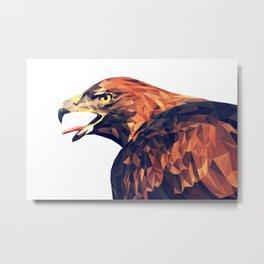Illustrator triangle low poly Metal Print
