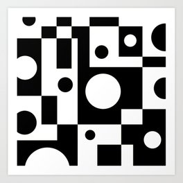 Black & White Abstract II Art Print