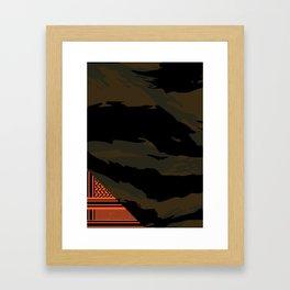 Brown Tiger Camouflage Framed Art Print