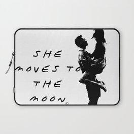 She moves to the Moon Laptop Sleeve