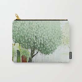 By The River-Green Carry-All Pouch