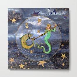 Medieval Mermaid Metal Print