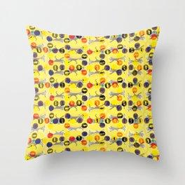 5 Dibas Throw Pillow