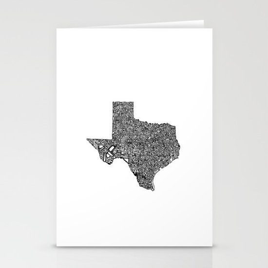 Typographic Texas Stationery Cards