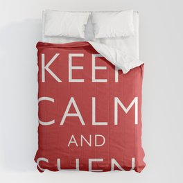 Keep Calm and Shen Long Comforters