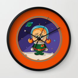 Zoe Conquers The Moon Wall Clock