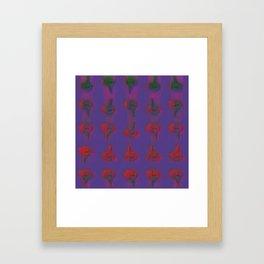 Burdock and Lavender. Framed Art Print
