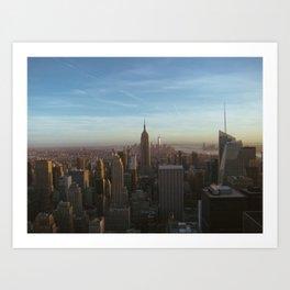 Manhattan Sunset Art Print