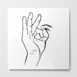 In hoc signo vinces (con este signo venceras) Rosca Metal Print