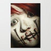 silent Canvas Prints featuring Silent by Flashbax Twenty Three