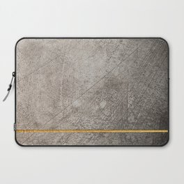 concrete texture and gold Laptop Sleeve