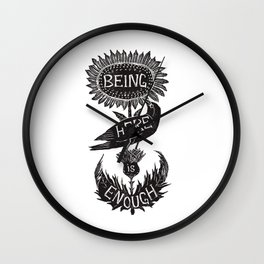 Being Here is Enough Wall Clock