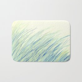 Blue grass for Cindy Bath Mat