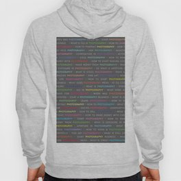 Photography Colored Keywords Hoody