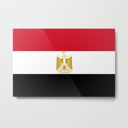 National flag of Egypt, Authentic version in scale and color (High Quality) Metal Print