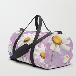 White Daisies Bloom Duffle Bag