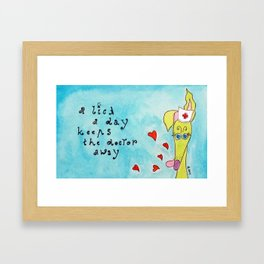 A lick a day... Framed Art Print