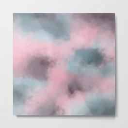 Pink, Grey / Gray & Aqua Cloudscape Metal Print
