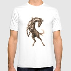 Ink Horse MEDIUM White Mens Fitted Tee
