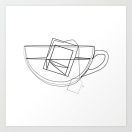 """ Kitchen Collection "" - Tea Mug With Tea Bag Kunstdrucke"