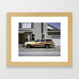 """lets send this weekend back to the future"" Framed Art Print"
