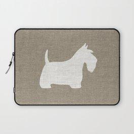 White Scottish Terrier Silhouette Laptop Sleeve