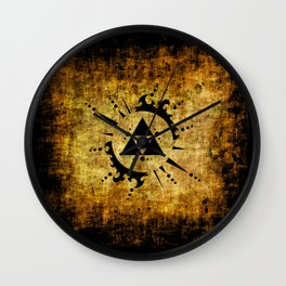 Legend Of Zelda Triforce Grunge Wall Clock