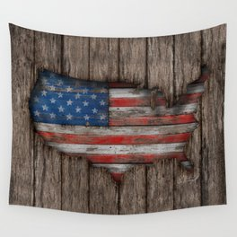 American Wood Flag Wall Tapestry