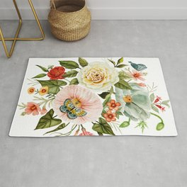 Wildflowers and Butterflies Bouquet  Rug