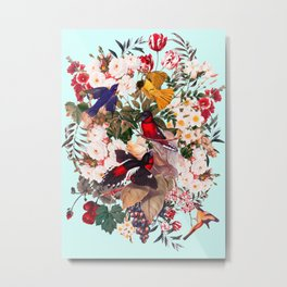 Floral and Birds XXXI Metal Print