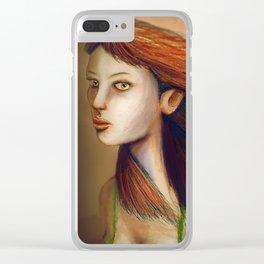 Eyes Of Fiery Devotion Clear iPhone Case