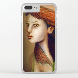 Eyes Of Fiery Devotion Clear iPhone Case