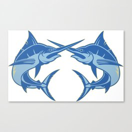 Sailfish is one of the most hardest fishes to catch Canvas Print