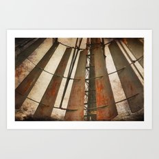 Rusty pinwheel Art Print