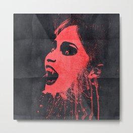 Vampire face in the dark Metal Print