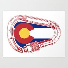 Colorado Climbing Carabiner Art Print