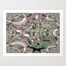 Seashell Fractal Design Art Print