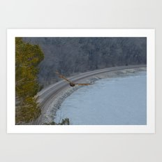 Curving away Art Print