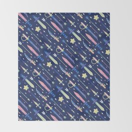 Magical Weapons Throw Blanket