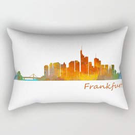 Frankfurt am Main, City Skyline, Citiscae art watercolor V1 Rectangular Pillow