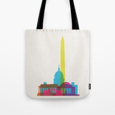Shapes of Washington D.C. Accurate to scale Tote Bag