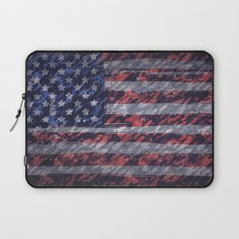 Rustic American Flag Laptop Sleeve