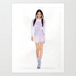Supermodel Joan Art Print