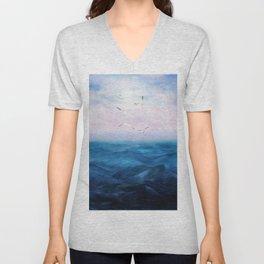 Watercolor Sea 5 Unisex V-Neck