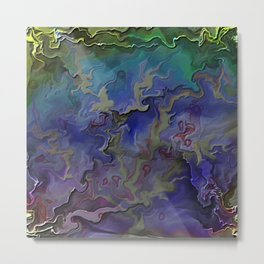 Silken Shards Metal Print