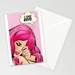 Lichtenstein pop art Stationery Cards