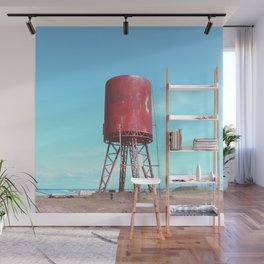 Old water tank Wall Mural