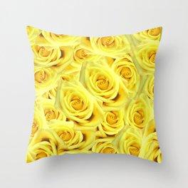 Candlelight Roses Throw Pillow